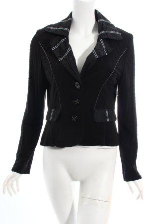 Apanage Kurz-Blazer schwarz-weiß Romantik-Look