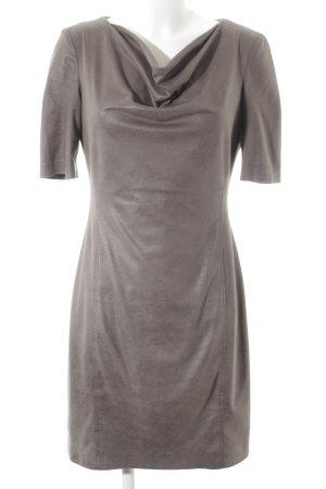 Apanage Robe à manches courtes gris brun style simple