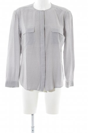 Apanage Long Sleeve Blouse white-light grey allover print casual look