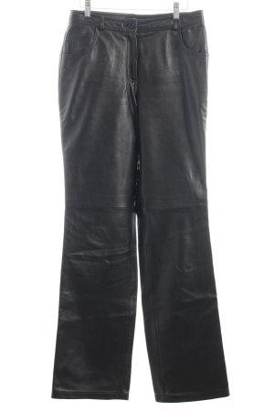 Apanage Lederhose schwarz Schimmer-Optik