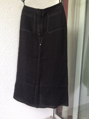 Apanage Maxi Skirt anthracite linen