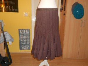 Apanage Jupe à plis brun tissu mixte