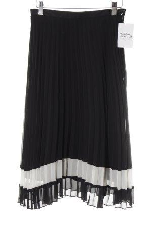 Apanage Plisseerock schwarz-weiß klassischer Stil