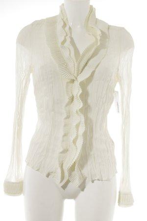 Apanage Camicetta con arricciature bianco sporco elegante