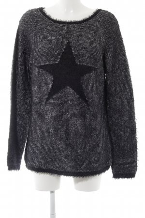 Apanage Crewneck Sweater black-silver-colored flecked elegant