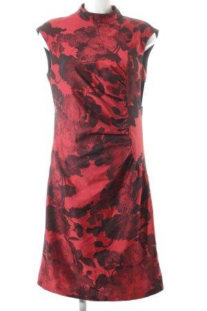 Apanage Etuikleid schwarz-rot Blumenmuster 40ies-Stil