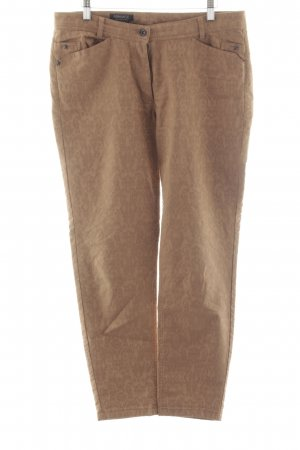 Apanage Slim Jeans bronze-colored-brown allover print casual look
