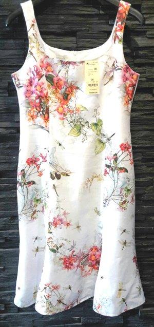 Apanage Sommerkleid , leichte A-Linie,Leinen,  florales Muster ***NEU*** NP 139,95 Euro weiß bunt Gr M von Apanage