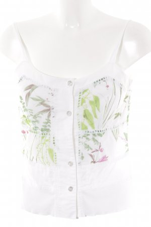 Apanage Top con bretelline motivo floreale stile  materiale misto