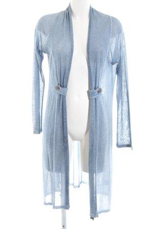 Apanage Cardigan tricotés bleu moucheté style décontracté
