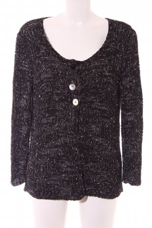 Apanage Cardigan black-white flecked