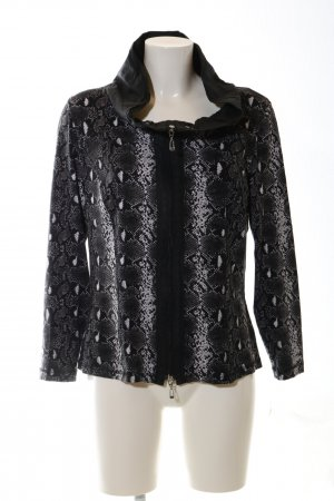 Apanage Sweat Jacket black-white animal pattern casual look
