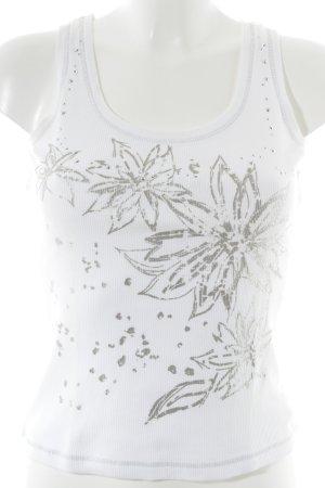 Apanage Tanktop weiß Blumenmuster Casual-Look