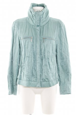 Apanage Between-Seasons Jacket turquoise casual look