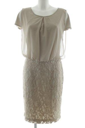 Apange Blouse Dress khaki flower pattern business style