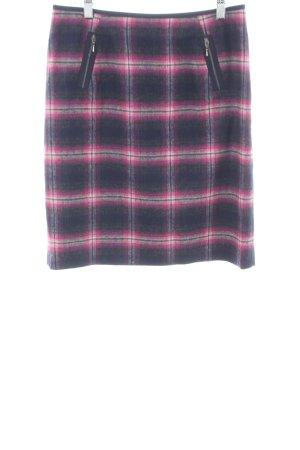 Apange Wool Skirt check pattern casual look