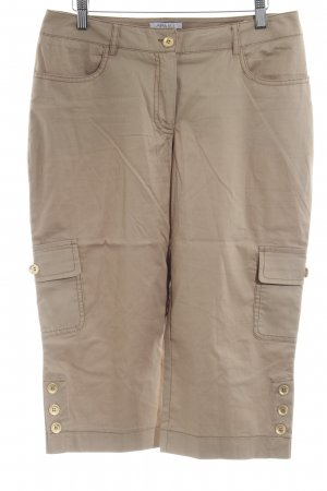 Apart 3/4-Hose beige-camel schlichter Stil