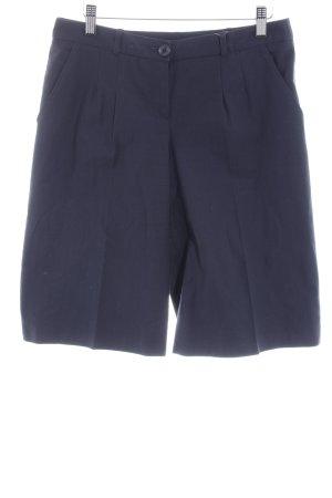Apart Pantalon 3/4 bleu foncé motif rayé style d'affaires