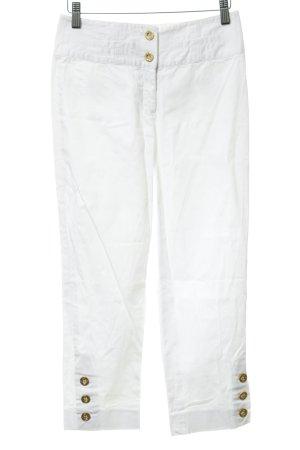 Apart Pantalone a 3/4 bianco stile casual