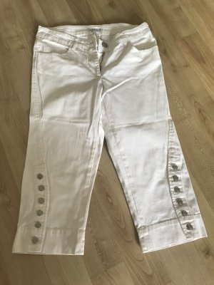Apart 3/4 Length Trousers white cotton