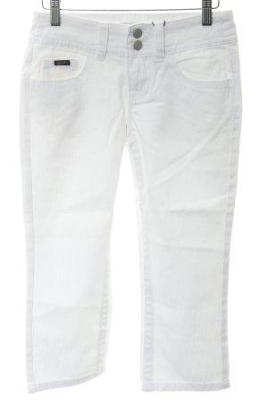 Apart Jeans 3/4 blanc style déchiré