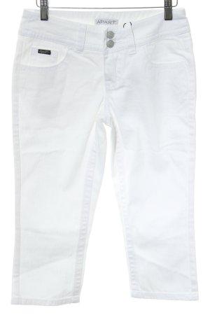 Apart 3/4-jeans wit simpele stijl