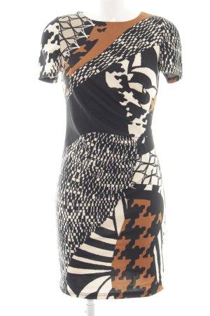 Apart A-Linien Kleid abstraktes Muster Casual-Look