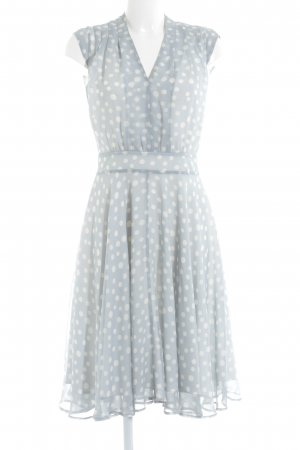 Apart A-Linien Kleid blassblau-weiß Punktemuster 20ies-Stil
