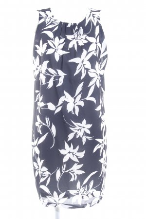 Apart A-Linien Kleid dunkelblau-weiß abstraktes Muster