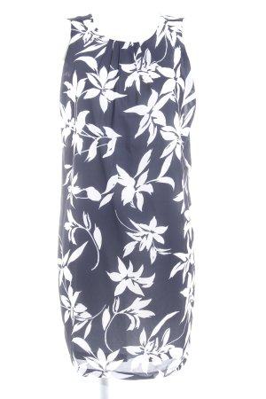 Apart A Line Dress dark blue-white abstract pattern