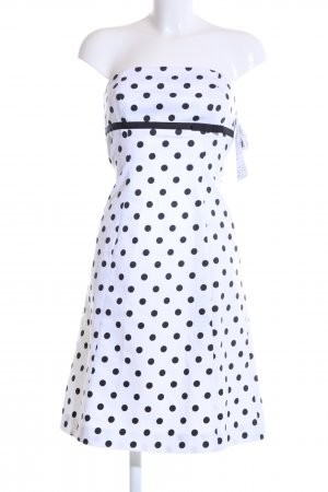 Apart A-Linien Kleid weiß-schwarz Punktemuster Casual-Look