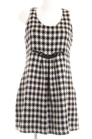 Apart A-Linien Kleid schwarz-weiß Hahnentrittmuster Retro-Look