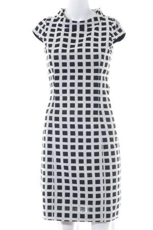 Apart A-Linien Kleid schwarz-weiß Karomuster Business-Look