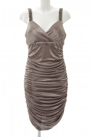 Apart Evening Dress silver-colored-light grey wet-look