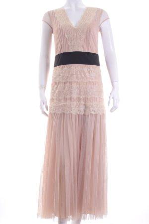 Apart Abendkleid beige-schwarz Eleganz-Look
