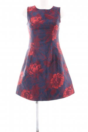 Apart Evening Dress blue-red flower pattern elegant