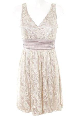 Apart Abendkleid creme-blasslila florales Muster Romantik-Look