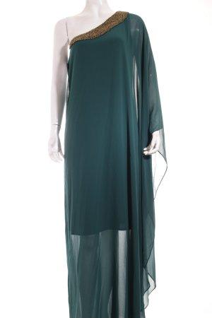 Apart Abendkleid dunkelgrün Nietenelemente