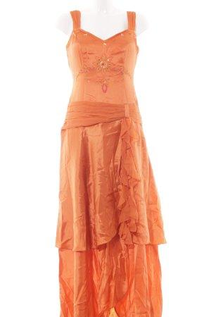 Apart Avondjurk donker oranje elegant