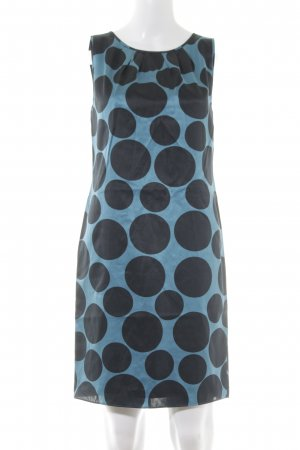 Apart Abendkleid petrol-schwarz Punktemuster 70ies-Stil