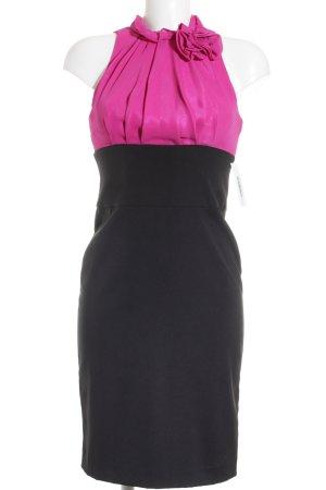Apart Abendkleid violett-schwarz Colourblocking Elegant