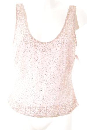 Apart ärmellose Bluse rosa-silberfarben Elegant
