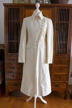 Apart Anzug Mao Asia Jacke Mantel Hose beige creme ecru Gr. 34 XS