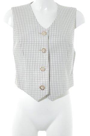 Apart Chaleco de vestir beige claro-blanco puro estampado a cuadros look casual