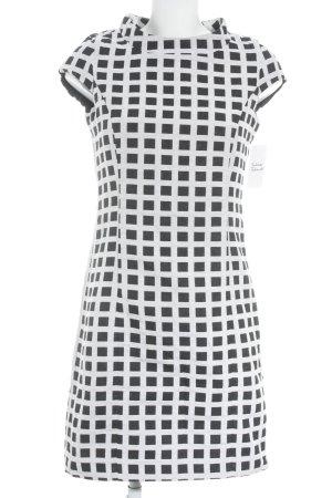 Apart Bleistiftkleid schwarz-weiß Karomuster klassischer Stil