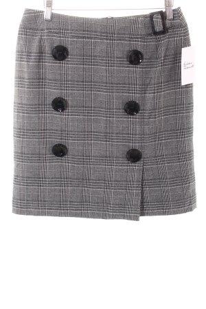 Apart Falda de tubo negro-blanco estampado a cuadros estilo «business»