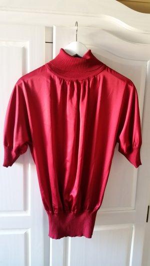 Apart Short Sleeved Blouse dark red