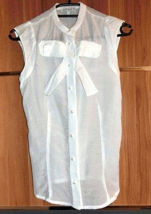 Apart Bluse Weiß 34 Seide Baumwolle top Zustand