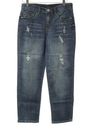 Apart Boyfriend Jeans blue acid wash
