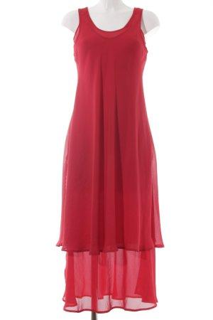 Apart Vestido de chifón rojo elegante